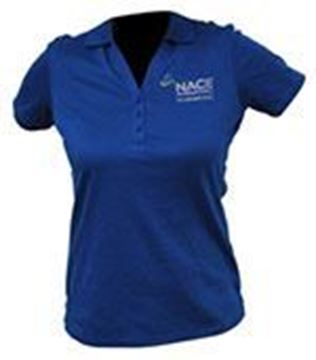 Picture for Ladie's Port Authority V-Neck Polo-Royal Blue-Large